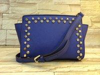Hot 100% genuine leather bags women handbag 2014 fashion, women leather handbags, michaels women rivet bag cowhide small bags