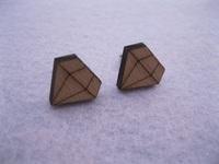 new fashion shape laser engrave wooden stud earrings