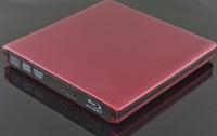 Slim Red USB 3.0 External TD04V/F 3D 6X Blu-Ray Burner Writer BD-RE DVD Drive