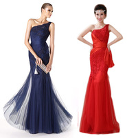 The new summer 2014 long one shoulder lace fishtail cultivate one's morality bridal gowns of big yards
