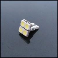 Free shipping 10pcs T10 4 SMD Pure White CANBUS OBC Error Free Interior Car W5W 4 LED Light Bulb 12V