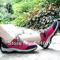Hot sale 2014 New Arrival Woman Comfortable hiking shoes Genuine leather breathable Leisure sports shoes/outdoor shoes for woman