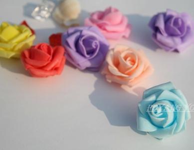 wholesale 200pcs/lot 4cm foam Rose Mini candy fruit packing box flower decoration flower wedding flowers free shipping(China (Mainland))