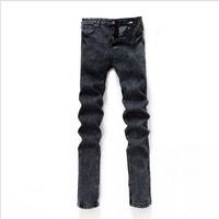 New 2014 Men Korean fashion explosion models smoke gray pencil pants high quality hot salle jeans long denim pants Free shipping
