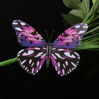 New 10cm simulation PVC Vivid Multi Color Noctilucent gold dust Luminous Butterfly Fridge Magnet for Home Decor(10pcs/lot)