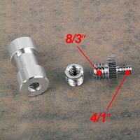 "10X 3in1 1/4-1/4 Inch Metal Adapter Screw +1/4"" to 3/8"" Screw Adapter+1/4"" 3/8"" Light Umbrella Holder To Tripod Screw Adapter"