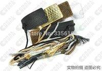 free shipping Women's cummerbund serpentine pattern no button rope tieclasps wide waist sealing gold silver black