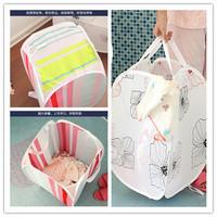 NEW 2014 High quality printing Storage  basket Debris basket fitted clothing basket folding laundry basket FREE SHIPPING