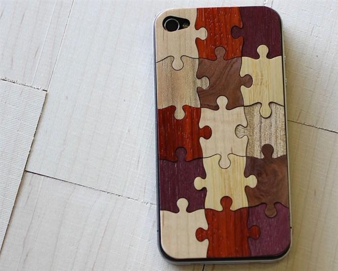 Unique Aluminum+wood case for iphone(China (Mainland))