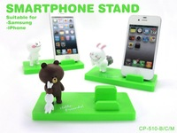 Free shipping 2014 New Durable Korea LINE Doll series Smartphone stand Animal Bear/ Rabbit Support Holder Lovely Car Decoration