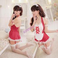 HOT!!!3PCS/LOT 2014 New Sexy costumes Mini Babydoll Dress Underwear Sleepwear Backless Lace Lingerie Set+G-string SV000541