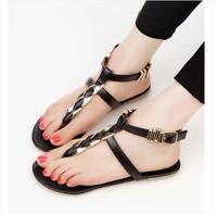 Fashion women sandals 2014 lady's shoes paillette flip-flop flip female flat sandals girls fashion flat heel shoes
