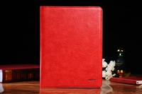 Voltage Red New For  iPad Cases Classic Swivel Stand Litchi PU Leather Smart Cover Case for New ipad/ iPad 2 3 4