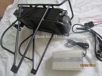 Free shipping!! Lifepo4 48v 20ah rear rack/luggage battery pack formid-drive bafang motor 48v 500w/750w electric bike