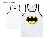 Cheap Batman Muscle tank top men Slim fitness vest for boys sleeveless hip hop design summer cotton singlet S M L XL XXL XXXL