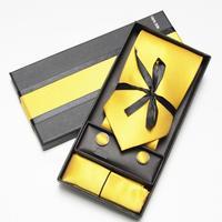 For neck ties set long box set yellow set banquet tie pocket towel cufflinks