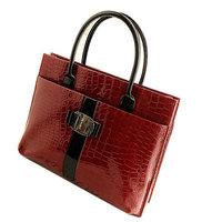 Hot sale 2014 new fashion leather bag high quality brand design hard snake skin handbag women messenger bag wine red freeship