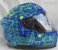 HJC CIRCUS BLUE  Motorcycle Helmet Dual visor system urban full face helmet 2014 new design