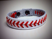 Free shipping Leather baseball seam bracelet,baseball stitching bracelet,baseball bracelet,baseball accessories