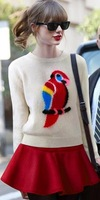 long sleeve oversized sweaters for women  Vintage totem loose pullovers short knitwears top sale autumn -summer pullover
