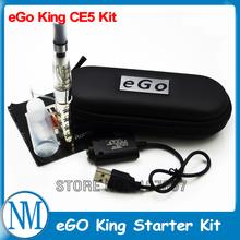2014 New Hot eGo CE5 Kit e-Cigarette CE5 Atomizer 650mah ego King Battery eGo CE5 e cigs Zipper Case Free Shipping ihealthcigs