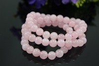 Free Shipping,3pcs/lot 8mm Natural rose quartz stretchy bracelet wholesale,vintage bracelets & bangles, bracelets made of stones