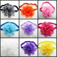 10pcs children's hair headband Baby girls hairbands chiffon flower children elastic hair band Baby headdres Hair accessories