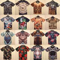 Free shipping men 3d print Classic O-Neck T-shirt Cool Men's Short Sleeve Cotton tees top Size M-XXL