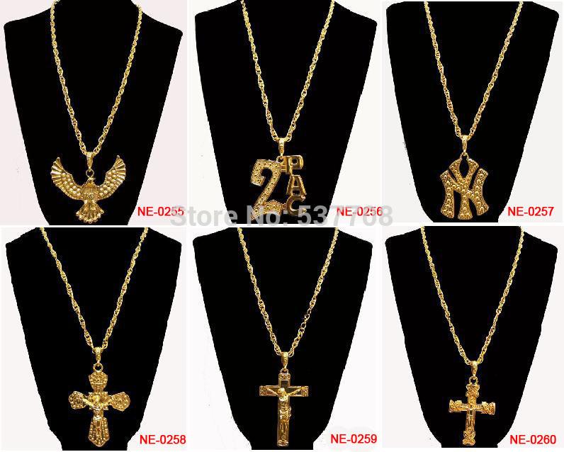 New 2014 Men Hip Hop Gothic18K Gold Long US Dollar Pendant
