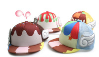 2014 New Summer Kids Baby Children Cute Angel ICE Cream Baseball Cap 2-6 Years Wholesale