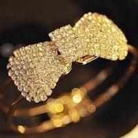 Fashion Shine luxurious full drill Crystal Rhinestone bow bracelet  female style bangle AAA!!! free Shipping!