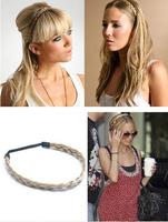 Best-selling Korea Style Trendy Wig Braids Synthetic Elastic Hair Bands 1pcs/lot Fashion Women Headwear For Women Gift 300224