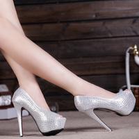 high-heeled shoes 14cm New 2014 women's platform shoes open toe shoe wedding shoes