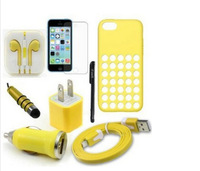 8 Item Bundle for iphone 5 C ,case for Apple iPhone 5C .8item/set , free shipping