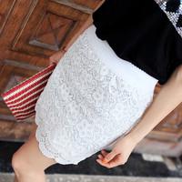 Fashion Women Lace Skirts for women 2015 summer new slim short pencil skirt black,white free size drop shipping free shipping
