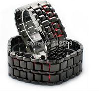Free Shipping Luxury High Quality Men Dress LED Digital Watch Lava Style Iron Samurai Women Wristwatch