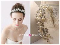 T & h series aesthetic beaded rhinestone the bride hair bands hair accessory hair accessory accessories wedding dress