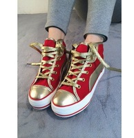 Free shipping 2014 new Designer shoes canvas shoes student shoes casual lovers platform sandals shoes flat sole