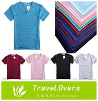 2014 Summer 15 Colors Fashion New Arrival Men's Slim Plus Size Color Casual T-shirt Summer T-shirt TSP1258