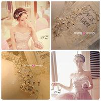 Smart crystal bride handmade crystal hair accessory hair bands hair accessory accessories wedding dress formal dress accessories