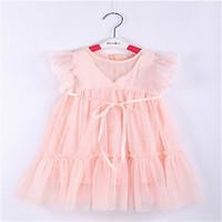 Girl Party  Dress  Sequins Gauze    New  2014 Summer  Children Dresses Girls Princess  Beige  Lace  party  tutu Dress 5pcs/lot