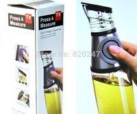 Free shipping plastic measurable oil vinegar dispenser/heaithy living kitchen oil bottle