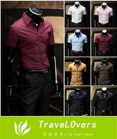 2014 Summer Free Shipping Hot Selling 100% Quality Gurantee Men's Casual Shirt Short Sleeve Summer Shirt TSP1259