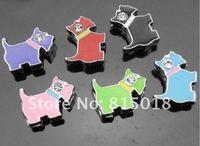 Wholesale 50pcs 8mm mix color dog slide charms fit 8mm Pet dog cat Collar