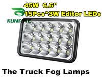 "Super bright New Arrival 10-30V Round 6.6"" 45W the truck fog lamps tractor off-road ATV LED light working lamp Fog light KF-0345"