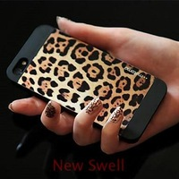 Leopard Print Pattern Back Case for iPhone 5/5S Free Shipping Wholesale