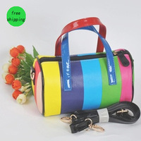 Free Shipping 5 pieces Girls Multicolor Handbags PU Leather Shoulder  Bags Ladies Mini Colors Bag Girl Fashion Bags14042318