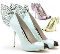 New 2014 name brand butterfly pumps peep toe women high heels sweet grils shoes designer dress wedding shoes