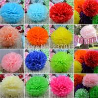 "10pcs Tissue Paper Pom Poms Flower Balls Wedding Party Shower 8""/10""/14"" Decor Free Shipping"