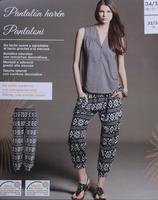 European orders new spring 2014 new women's casual pants harem pants geometric patterns pants feet XS XXXL